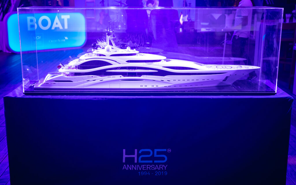 H2 celebrate 25 years at the Monaco yacht show 2