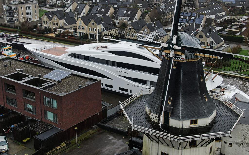 Feadship motor yacht Arrow preparing for sea trials 5