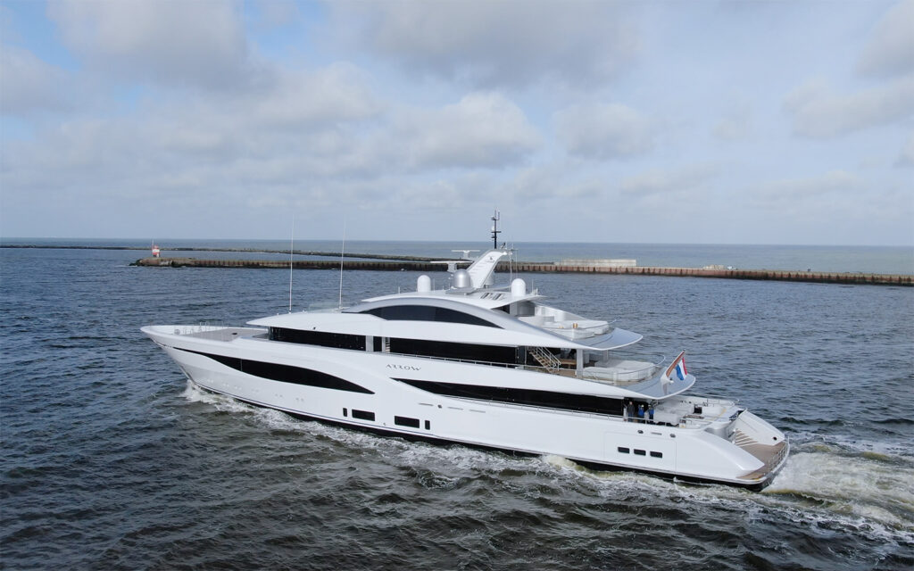 New 75m Feadship Arrow on sea trials 1
