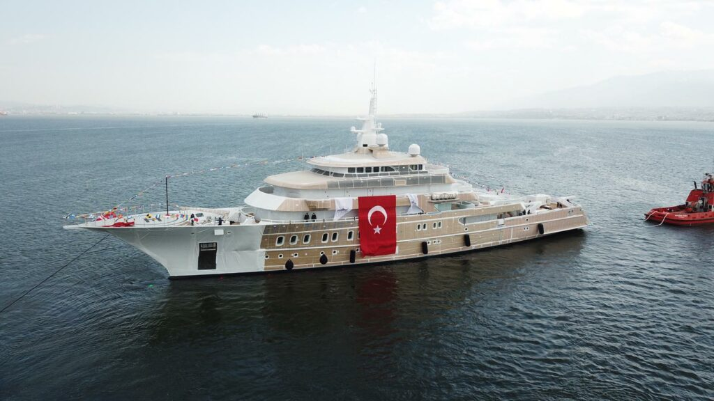 AKYACHT launches 85m explorer superyacht Victorious in Turkey 1